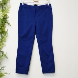 🌳 J. Crew Cafe Capri Pants Blue Cropped Career 2